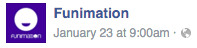 Funimation post time 9am